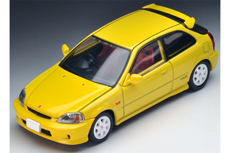 1/64 Tomica Limited Vintage NEO LV-N165a Civic Type R '99 (Yellow)