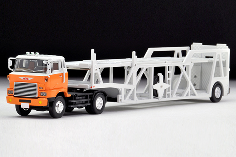 1/64 Tomica Limited Vintage NEO LV-N89d Hino Car Transporter (White/ Orange)
