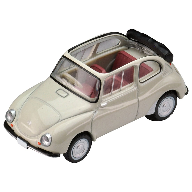 1/64 Tomica Limited Vintage LV-182b Subaru 360 Convertible 61-year Model (Hood Opened)