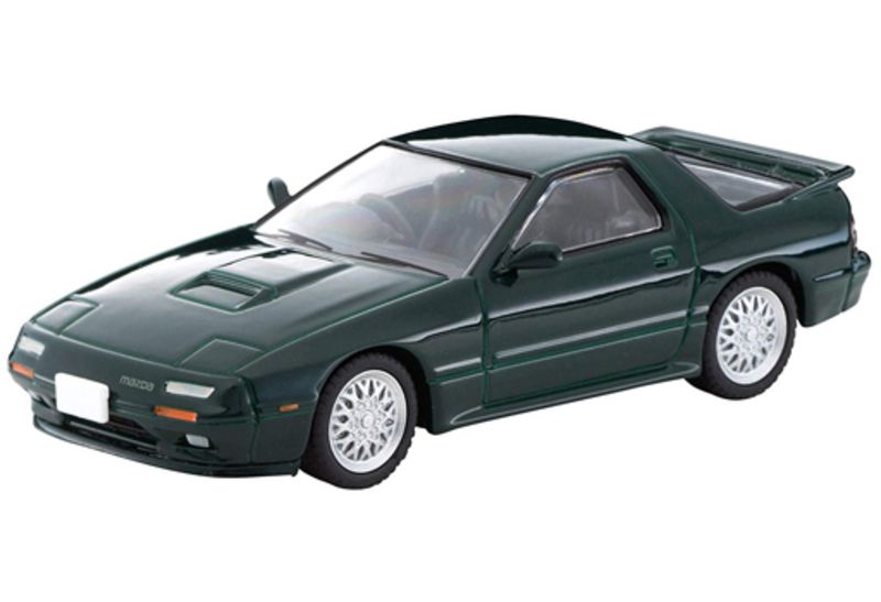 1/64 Tomica Limited Vintage NEO LV-N Japanese Car Era 14 Mazda Savanna RX-7 Infini (Green)