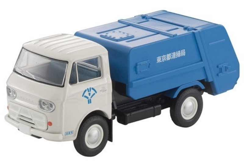1/64 Tomica Limited Vintage LV-186a Mazda E2000 Garbage Truck (White/Blue)