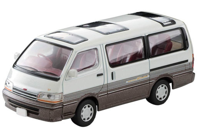 1/64 Tomica Limited Vintage NEO LV-N208a Hi Ace Super Custom Limited (White/Brown)