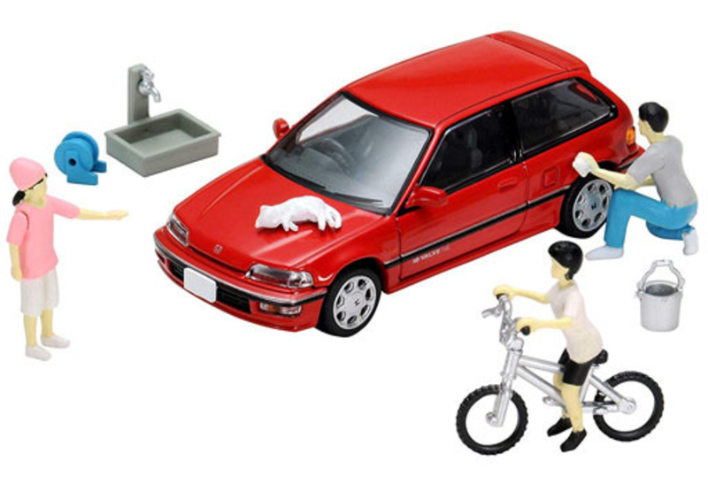 1/64 Tomica Limited Vintage NEO Diorama Collection DioColle 64 #Car Snap 02a Car Washing