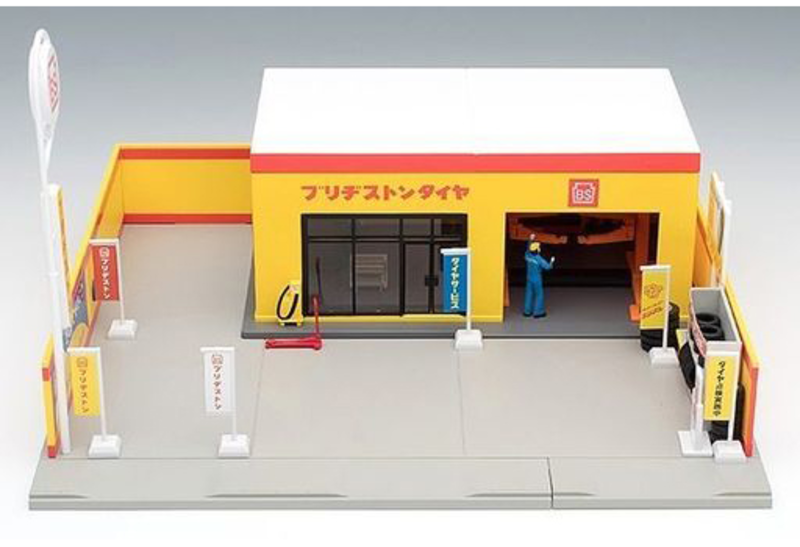 1/64 Tomicarama Vintage 05b Tire Shop (Bridgestone)