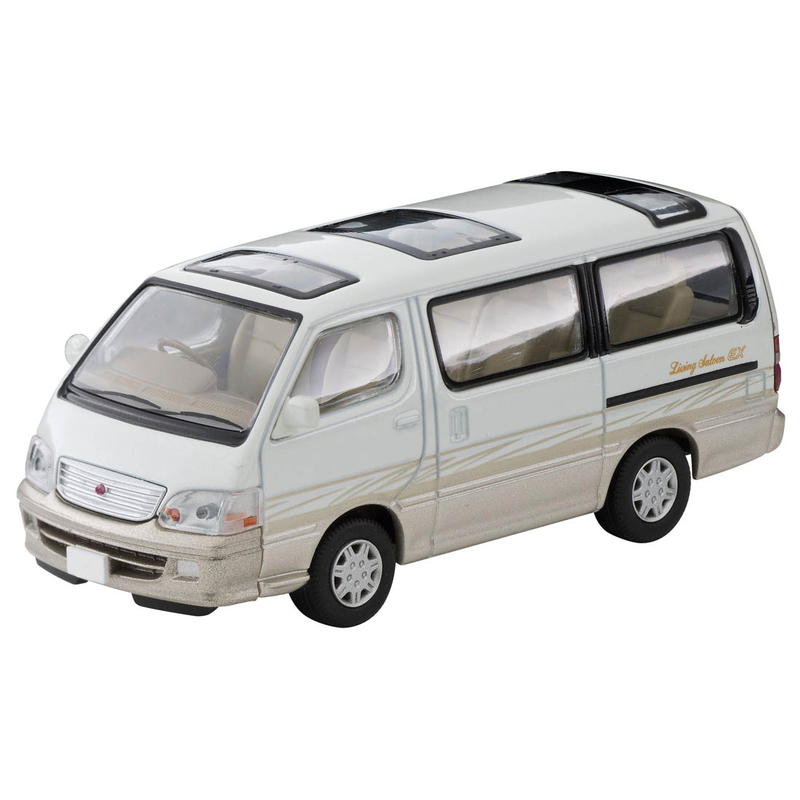 1/64 Tomica Limited Vintage NEO LV-N216a Hi-Ace Wagon Living Saloon EX (White/Beige)