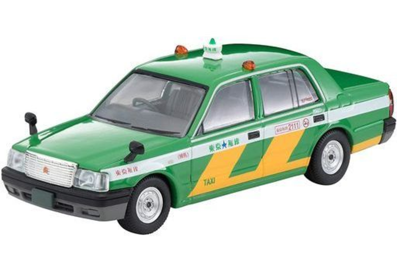 1/64 Tomica Limited Vintage NEO LV-N218a Toyota Crown Comfort Tokyo Musen Taxi (Green)
