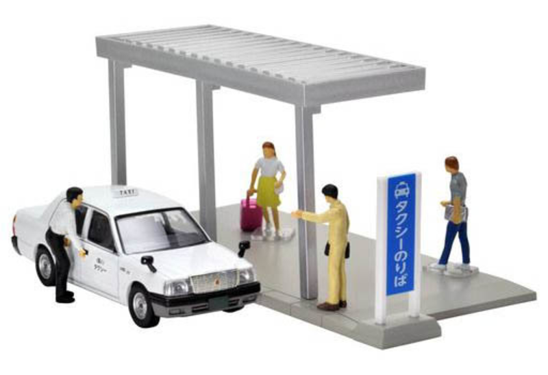 1/64 Diorama Collection DioColle 64 #Car Snap 04a Taxi Stop