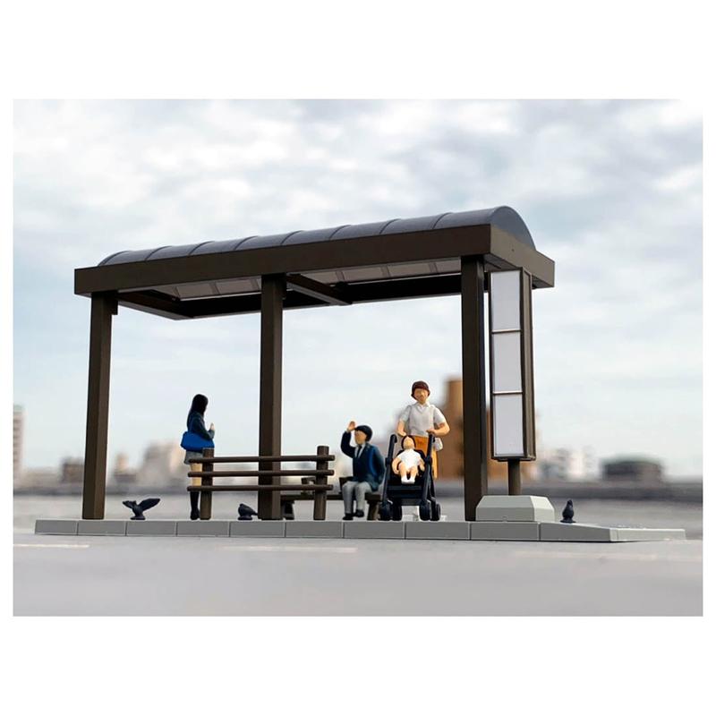 1/64 Diorama Collection DioColle 64 #Car Snap 05a Bus Stop
