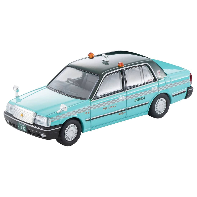 1/64 Tomica Limited Vintage NEO LV-N219c Toyota Crown Sedan Taxi (Green Cab)