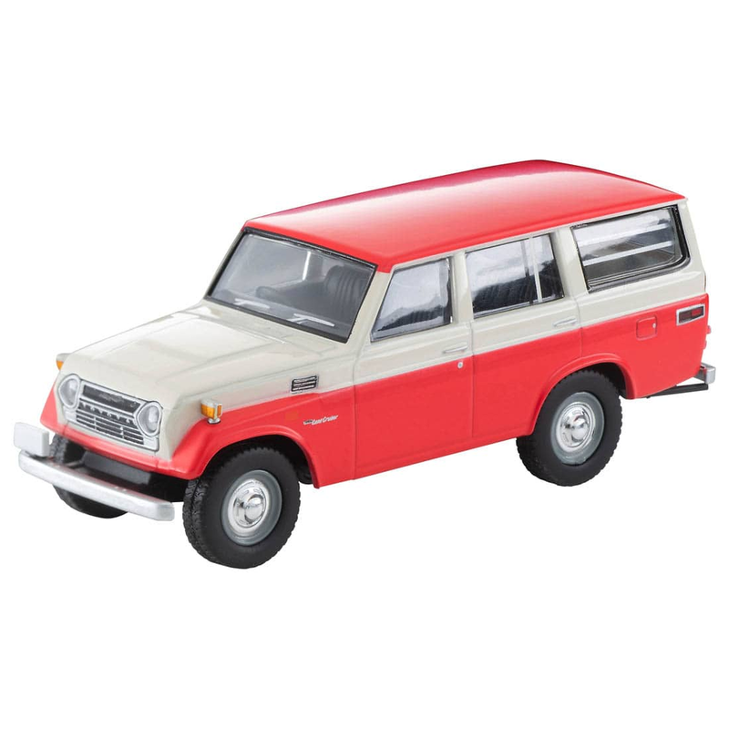 1/64 Tomica Limited Vintage LV-104c Toyota Land Cruiser FJ56V Model (White/Red)