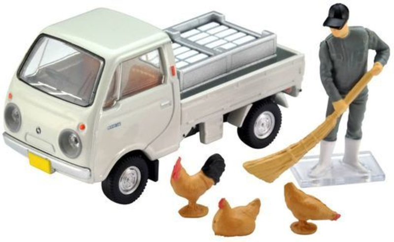 1/64 Tomica Limited Vintage LV-198b Mazda Porter Cab Three-way Open (White)