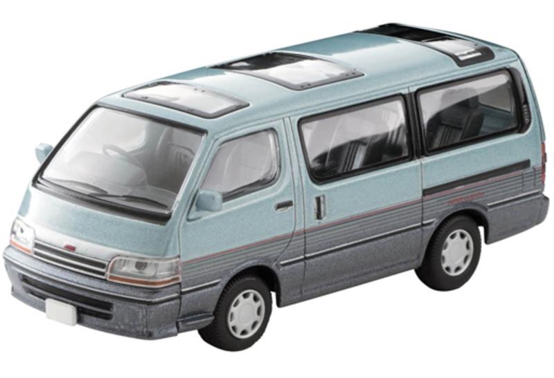 1/64 Tomica Limited Vintage NEO LV-N208c Toyota HiAce Wagon Super Custom (Light Blue/Navy)
