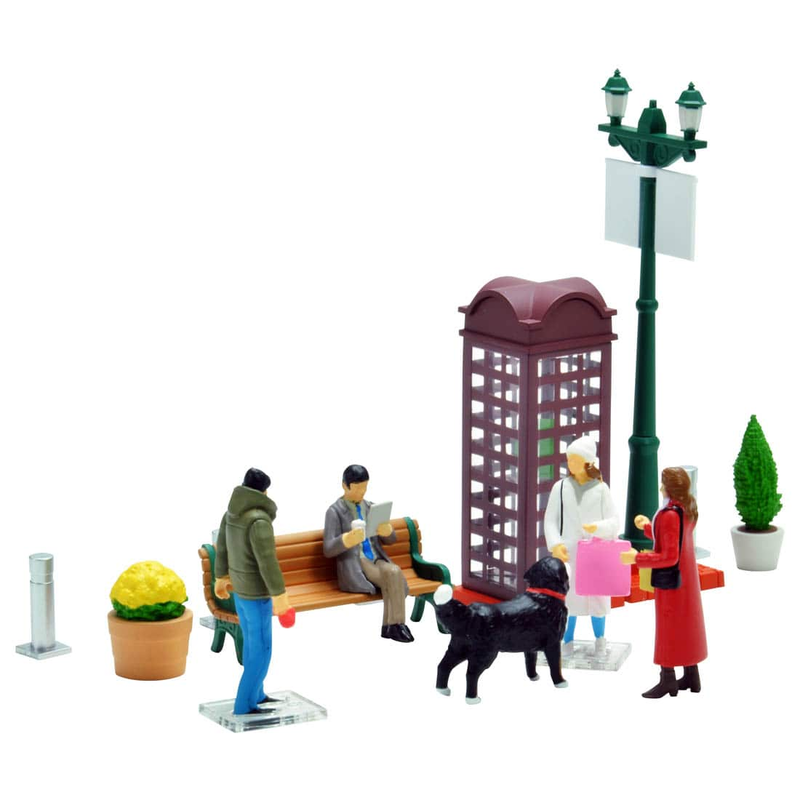 1/64 Diorama Collection Dio Colle 64 #Car Snap 09a Holiday Street Corner